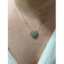 Gargantilha Ouro E Diamantes 1 Quilate Diamantes Naturais