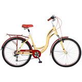 Bicicleta Benotto City Bike Aluminio R26 7v Dama Sunrace Fno