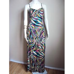 Vestido Longo Estampado Moderno Estiloso Roupas Moda Mulher