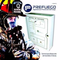 Central Para Detección De Incendios Z2 De 2 Zonas