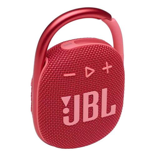 Parlante JBL Clip 4 portátil con bluetooth red