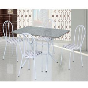 Conjunto De Mesa Artefamol Bruna Com 4 Cadeiras E Tampo Mdp