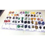 60 Pedras Preciosas Brutas E Roladas Ametista Granada Jade..