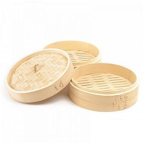 Duas Panelas De Bambu. 1 De 30cm E Outra De 25cm