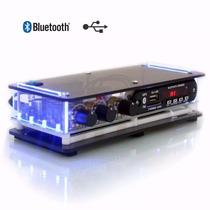 Aparelho Som Ambiente Usb Fm Bluetooth + 6 Caixa Preta Som