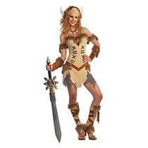 Disfraz Adultos Traje De Princesa De Viking