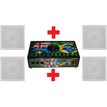 Amplificador D Mesa Turbo Dance + 4 Caixas Som Arandela Bsa