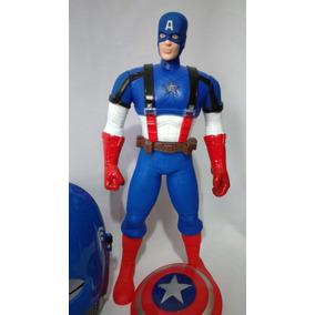 Kit Capitão America-marvel-mascara+escudo +brinde