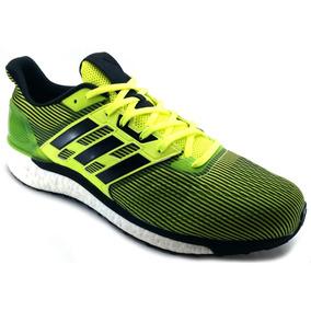 outlet store b33c6 0f1e2 Tenis adidas Supernova Boost Verde Negro Correr Running
