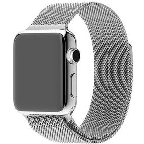 4a7e7c895fe Pulseira Milanês Loop Magnética Para Apple Watch - 38mm 42mm
