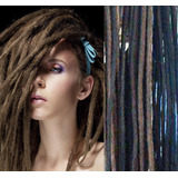 Extensiones Rastas Dreadlocks Pelo Natural Humano 20 Cm