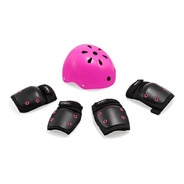 Kit Proteção Infantil Segurança Patins/ Skate/ Bike Rosa