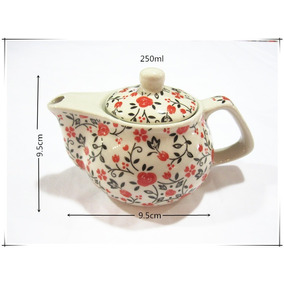 Tetera De 250ml Con Infusor De Aceroinoxidable De Porcelana