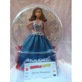 Muñeca Barbie Holiday 2016 Felices Fiestas 2016 Vestido Azul