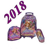 Kit Mochila 3d Infantil Escolar Princesinha Sofia 2018