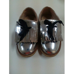 Zapatos Niño Unisex Plateado Zara * La Segunda Bazar