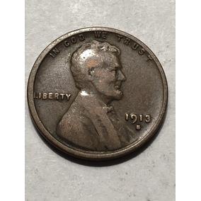 Moneda 1 Centavo Lincoln 1913 Mint S Usa Moneda Escasa