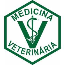 Adesivo Para Carro Medicina Veterinária Brasão Curso Animais