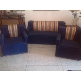 Juego De Muebles Azul Marinos Poco Uso