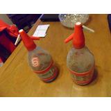 Lote 3 Sifones Antiguos De Vidrio Y Plastico Soda Llavallol