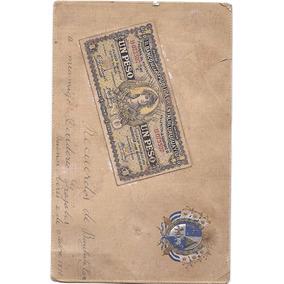 Billete Postal Antiguo Uruguayo Ley De 1895 Leer Descripcion