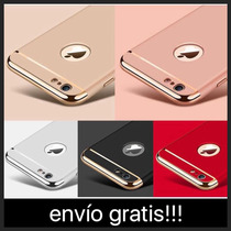 Funda Lujo Iphone 7/ 7 Plus, 6/ 6 Plus/ 5/ 5se Cromo 3 En 1