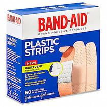 2 Cajas Con 60 Curitas De Plastico Band-aid Cada Una 3/4x3