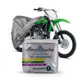 Capa Cobrir Moto Kawasaki Kx 100 Impermeável Proteção Uv