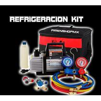 Kit Bomba Vacio Refrigeración Y Manometros Envio Gratis Sara