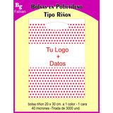 Bolsas Plasticas - Riñon Con Tu Logo 20x30 Impresas 1color