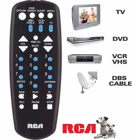 Control Remoto Universal Rca Tv Dvd Blu Ray Sat Cable Vcr