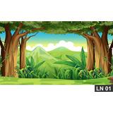 Floresta Encantada Painel 2,00x1,00m Lona Festa Aniversário