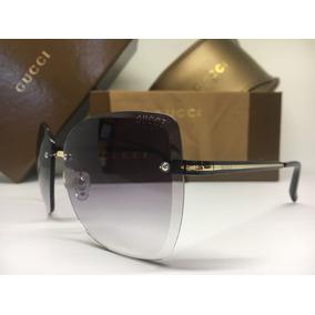 Oculos De Sol Feminino Gucci Original Quadrado Frete Grátis. 2 cores 185a254985
