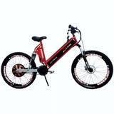 Bicicleta Elétrica 800w Aro26 Fullsuspentionextreme Vermelha