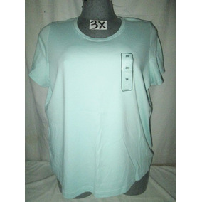 Blusa Casual En Color Verde Menta Talla Plus 3 X