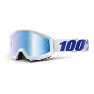 Antiparras 100% Espejada Strata Equinox Blanca Motocross Atv
