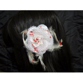 Broche Cabello Rosa Sangre Lolita Gore Gotico Dark Disfraz