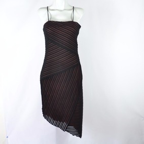 Missteen Vestido Midi Negro Con Fondo Rosa 11 Msrp $970