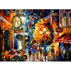 Cafe In The Old City - Pintura Al Óleo Leonid Afremov