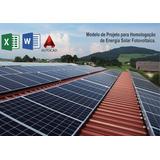 Modelo Editável Para Homologação De Sistema Fotovoltaico