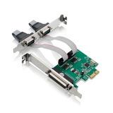Placa Pci Express X1 Multiserial Com 2 Seriais 1 Paralela