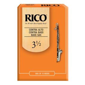Palheta Rico Reeds Para Contra Alto / Contra Baixo / Sax Bai