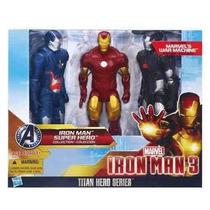 Iron Man 3 - Pack C/ 3 Bonecos - Titan Hero Series - Hasbro