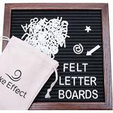 Letter Board Premium Felt 10x10 Madera - 346 Blanco / Brilla