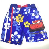 Traje De Baño Short Bermuda Disney Cars Rayo Mcqueen Niño M