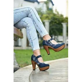 Zapato Muñeca Azul Y Jean Peruano Numero 37 Envio Gratis