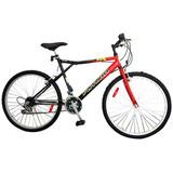 Bicicleta Mountain Bike 5176 Caballero Rodado 26 Rojo / N