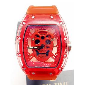 Reloj Skeleton Craneo Richard M I L L E Skull Rojo Envío Gra