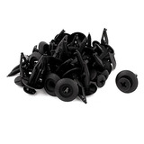 Negro Plástico Remaches Sujetador Coche Parachoques Clip Cl