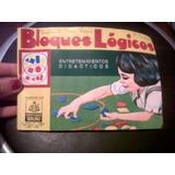 Yh Antiguo Juego Figuras Geometricas Bloques Logicos Año 60